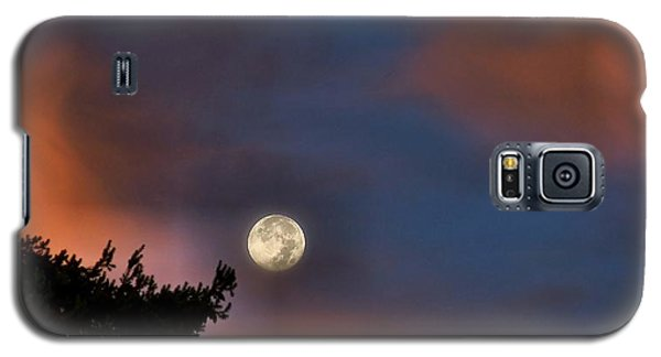 Galaxy S5 Case featuring the photograph Harvest Moon by Julia Hassett