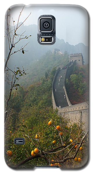 Galaxy S5 Case featuring the photograph Harvest Time At The Great Wall Of China by Lucinda Walter