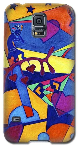 Harvesting The Love Kokopelli Art  Galaxy S5 Case by Lori Miller