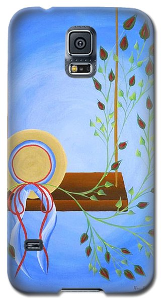 Hat On A Swing Galaxy S5 Case by Ron Davidson