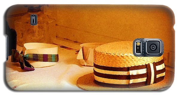 Galaxy S5 Case featuring the photograph Hats And Collars by Timothy Bulone