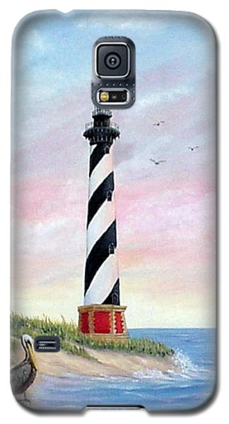 Galaxy S5 Case featuring the painting Hatteras Sunrise by Fran Brooks