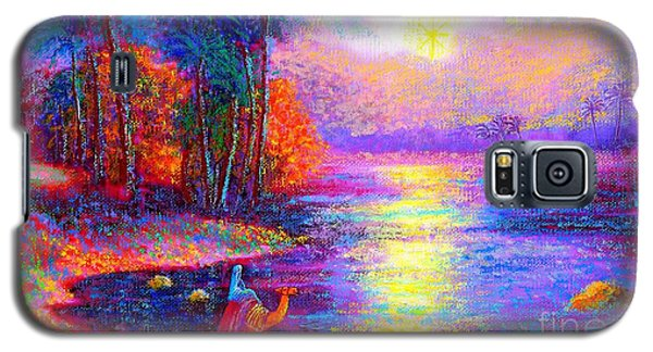 Galaxy S5 Case featuring the painting Haunting Star by Jane Small