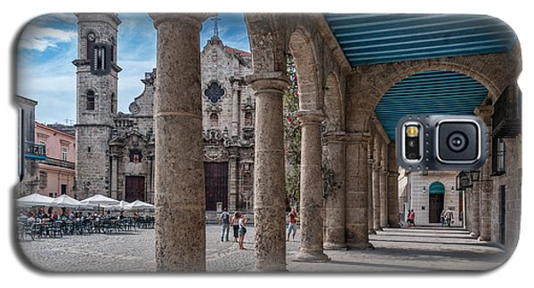 Havana Cathedral And Porches. Cuba Galaxy S5 Case