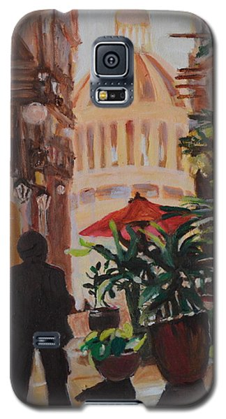 Galaxy S5 Case featuring the painting Havana by Julie Todd-Cundiff