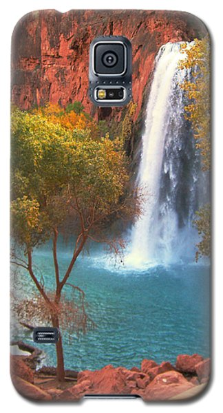 Galaxy S5 Case featuring the photograph Havasu Falls by Alan Socolik