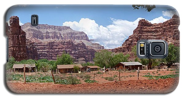 Galaxy S5 Case featuring the photograph Havasupai Village Panorama by Alan Socolik