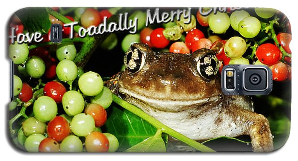 Have A Toadally Merry Christmas Galaxy S5 Case by Lynda Dawson-Youngclaus