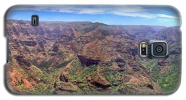 Hawaii Kauai Waimea Canyon Beautiful Panorama Galaxy S5 Case by David Zanzinger