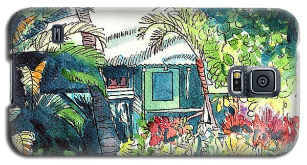 Galaxy S5 Case featuring the painting Hawaiian Cottage 3 by Marionette Taboniar