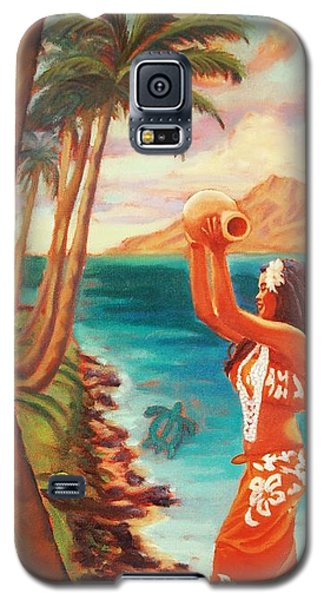 Hawaiian Hula Wahine Galaxy S5 Case by Janet McDonald