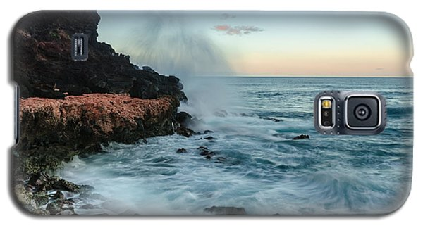 Galaxy S5 Case featuring the photograph Hawaiian Lava Rocks And Crashing Waves by RC Pics