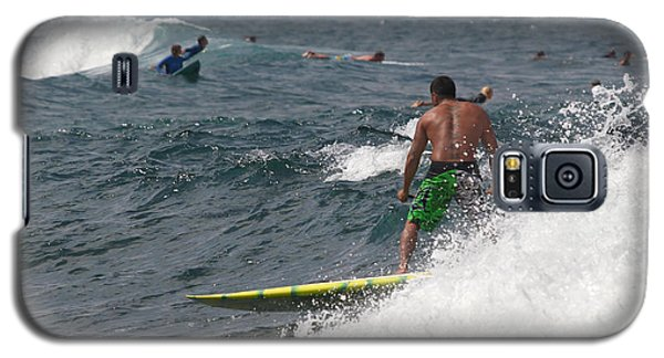 Hawaiian Man On A Paddleboard Galaxy S5 Case