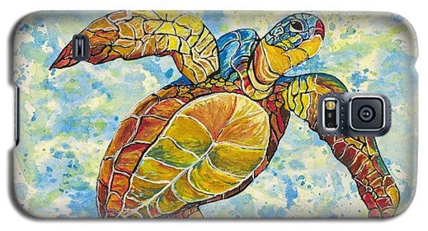 Galaxy S5 Case featuring the painting Hawaiian Sea Turtle 2 by Darice Machel McGuire