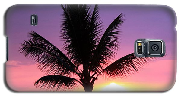 Hawaiian Sunset And Palm Galaxy S5 Case by Karen Nicholson