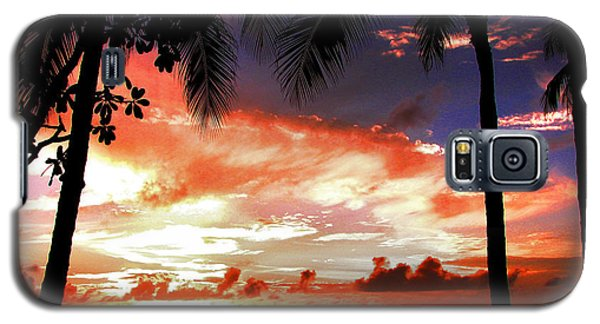 Galaxy S5 Case featuring the photograph Hawaiian Sunset by Kristine Merc