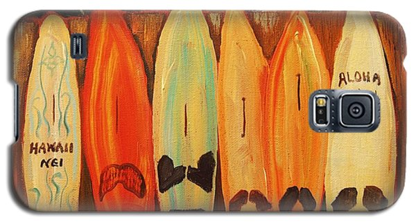 Hawaiian Surfboards Galaxy S5 Case by Janet McDonald