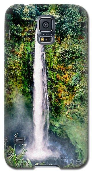 Galaxy S5 Case featuring the photograph Hawaiian Waterfall by Adam Olsen