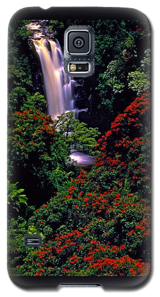 Hawaiian Waterfall With Tulip Trees Galaxy S5 Case