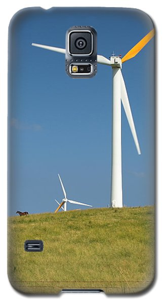 Galaxy S5 Case featuring the photograph Hawi Wind Farm  by Scott Rackers