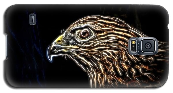 Galaxy S5 Case featuring the photograph Hawk by Ludwig Keck