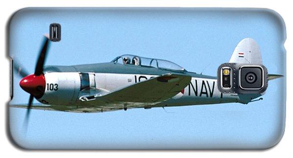 Hawker Sea Fury Nx51sf Flying Camarillo August 23 2003 Galaxy S5 Case by Brian Lockett