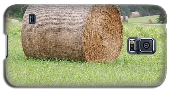 Galaxy S5 Case featuring the photograph Hay Bale by Mark McReynolds