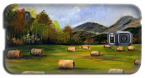 Hay Bales In Wv Galaxy S5 Case by Dorothy Maier