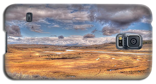 Hayden Valley Bison On Yellowstone River Galaxy S5 Case