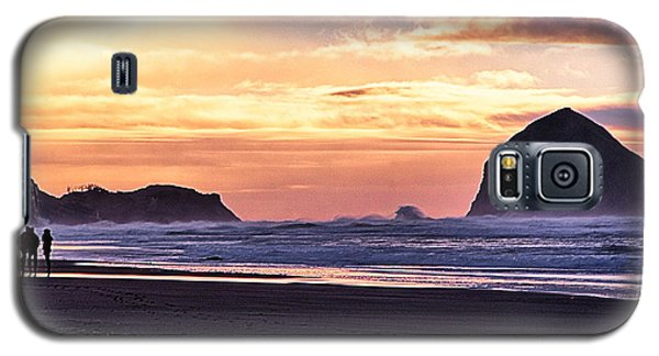 Haystack Rock Beach Walk Sunset Galaxy S5 Case