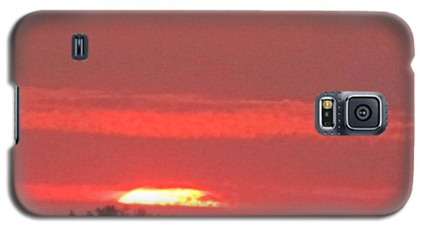 Galaxy S5 Case featuring the photograph Hazy Sunset by Tina M Wenger