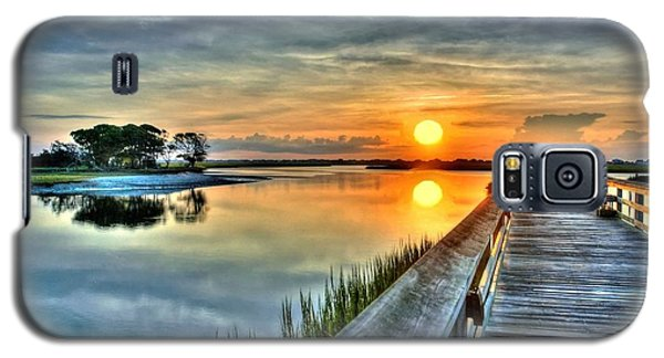 Hdr Boardwalk Sunrise Galaxy S5 Case by Ed Roberts