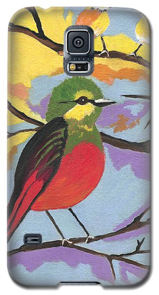 Galaxy S5 Case featuring the painting He Aint That Tweet by Kathleen Sartoris