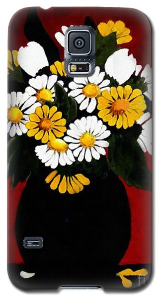 Galaxy S5 Case featuring the painting He Loves Me... by Barbara Griffin