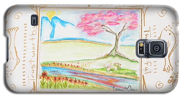 Galaxy S5 Case featuring the painting He Restores My Soul by Cassie Sears
