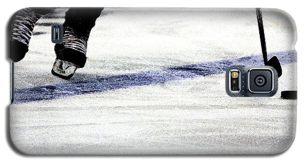 Ice Galaxy S5 Case - He Skates by Karol Livote