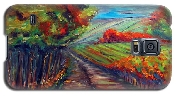 Galaxy S5 Case featuring the painting He Walks With Me by Meaghan Troup