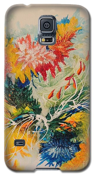 Galaxy S5 Case featuring the painting Heading Down #1 by Lyn Olsen