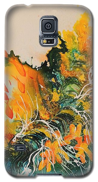 Galaxy S5 Case featuring the painting Heading Down #2 by Lyn Olsen