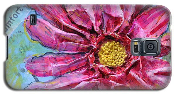Healing Pink Zinnia Galaxy S5 Case
