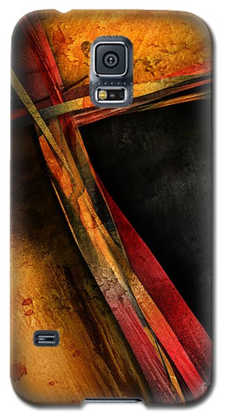 Galaxy S5 Case featuring the mixed media Healing Stripes by Shevon Johnson
