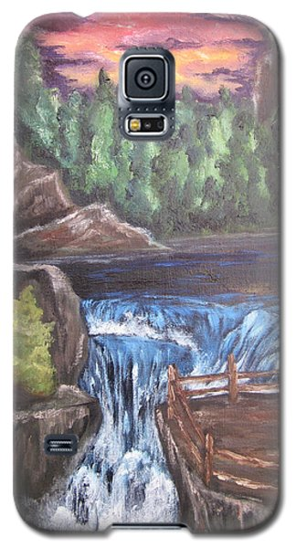 Galaxy S5 Case featuring the painting Hear The Music by Cheryl Pettigrew