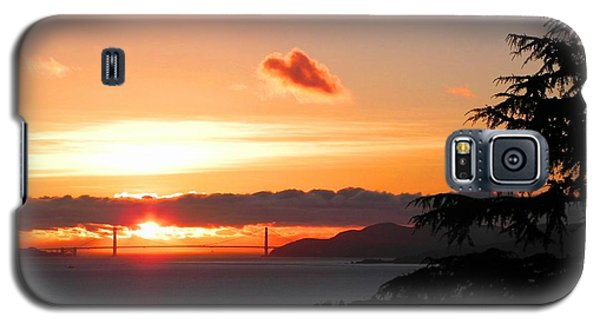 Heart Cloud Over Golden Gate Bridge Galaxy S5 Case
