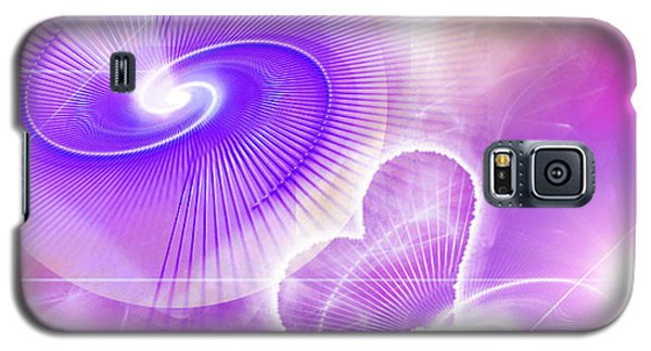 Galaxy S5 Case featuring the digital art Heart Magic by Ute Posegga-Rudel