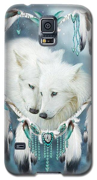 Heart Of A Wolf Galaxy S5 Case by Carol Cavalaris