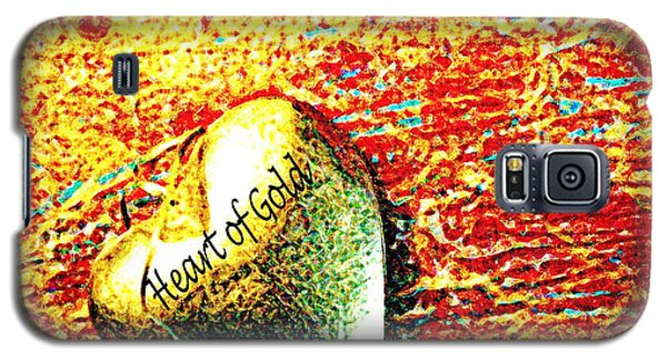 Galaxy S5 Case featuring the painting Heart Of Gold by Rita Brown