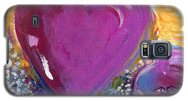 Galaxy S5 Case featuring the painting Heart Of Love by Bernadette Krupa