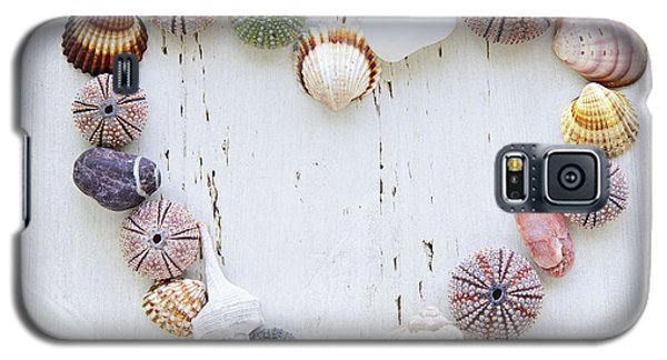 Heart Of Seashells And Rocks Galaxy S5 Case