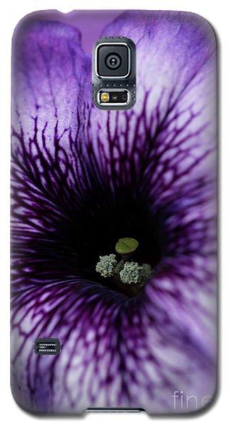 Heart Of The Purple Petunia Galaxy S5 Case