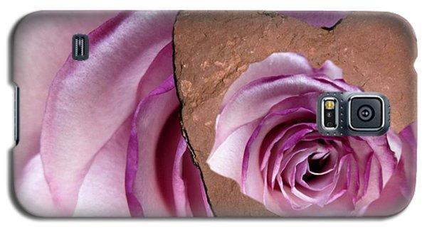 Heart Rock Neptune Rose Galaxy S5 Case by Marlene Rose Besso